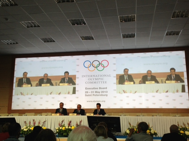 IOC 2020 sports decision St Petersburg May 29 2013