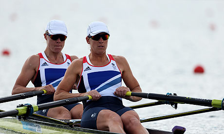 Katherine Grainger right and Anna Watkins London 2012