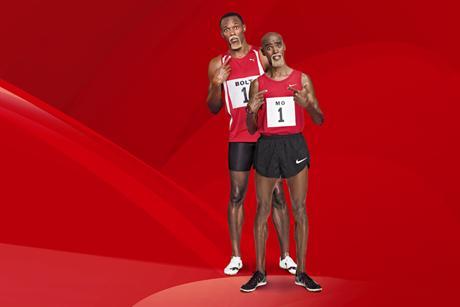 Usain Bolt and Mo Farah in Virgin Media advert