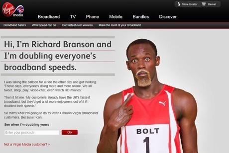 Usain Bolt in banned Virgin Media advert