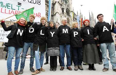Anti Munich 2018 protestors