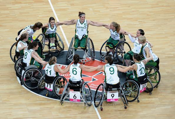 Australian womens wheelchair basketball team London 2012