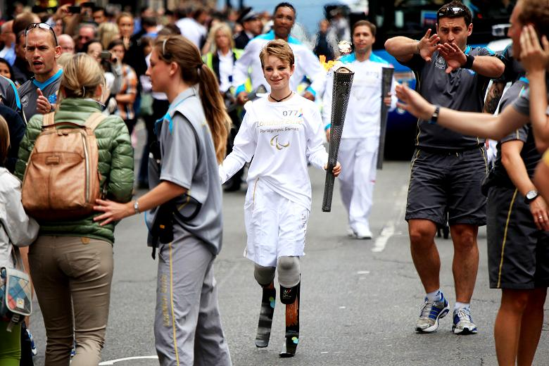 Beatrice Vio Paralympic torch