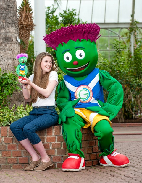 Clyde with creator Beth Gilmour