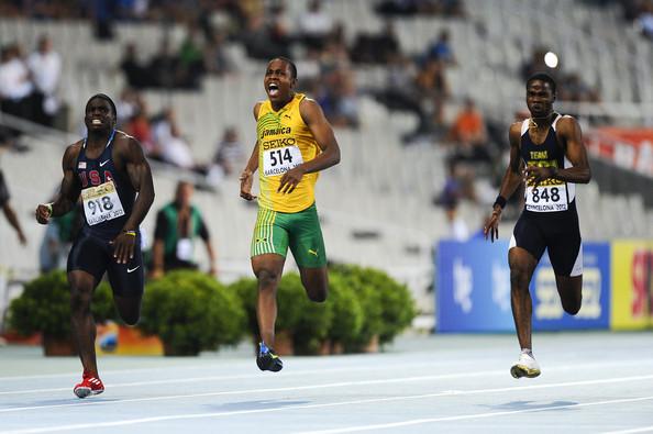 Delano Williams winning 200m gold