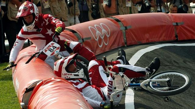 Edzus Treimanis injured at London 2012
