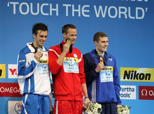 Gregorio Paltrinieri will now receive the 2012 World Championships 1500m gold medal and Pal Joensen will be awarded the silver