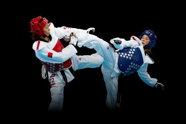 Jade Jones doing taekwondo