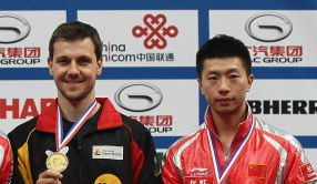 Ma Long with Timo Boll