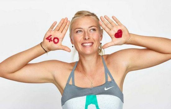 Maria Sharapova WTA 40 Love campaign