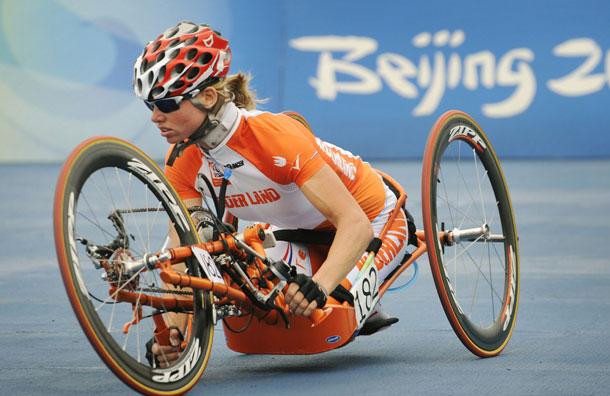 Monique van der Vorst won two silver medals at the Beijing 2008 Paralympics