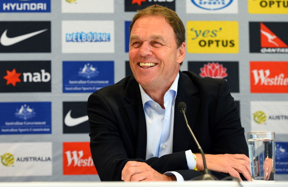 Socceroos coach Holger Osieck during a post match press conference in Melbourne
