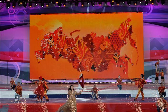 Sochi 2014 Olympic Torch Relay Celebration Cauldron unveiling ceremony