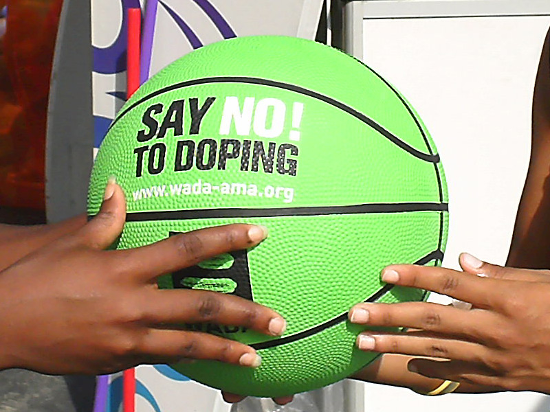 WADA logo on basketball