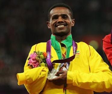 Wondiye Fikre Indelbu  with Paralympic silver medal