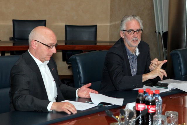 Brian Cookson in Russia May 2013