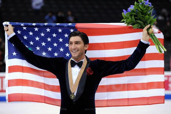 Evan Lysacek Los Angeles World Championships 2009