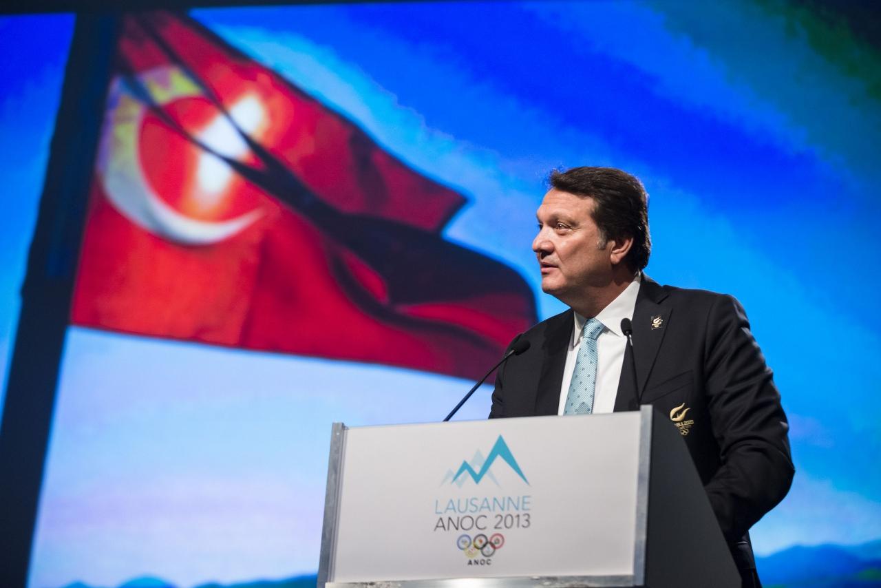 Hasan Arat ANOC Lausanne June 15 2013