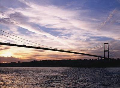 Istanbul bridge at twilight