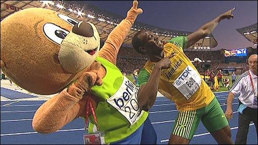 Usain Bolt with Berlino