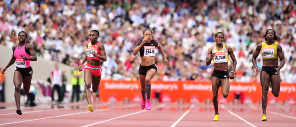 Allyson Felix Sainsburys Anniversary Games London July 27 2013