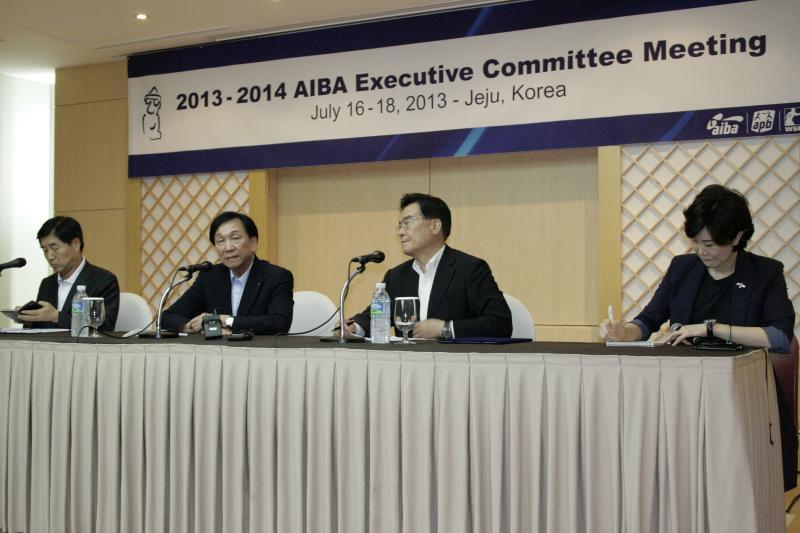 C K Wu at press conference SOuth Korea July 18 2013