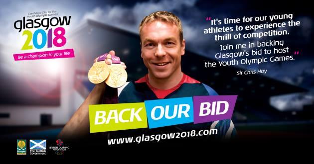 Chris Hoy Glasgow 2018 poster