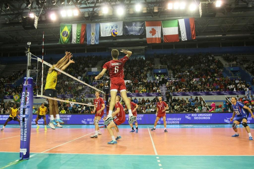 Evgeny Sivozhelez scored 14 points for Russia including four aces
