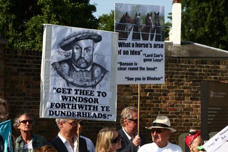 Greenwich Park protestors