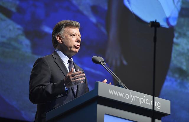 Juan Manuel Santos at Medellin Presentation July 4 2013