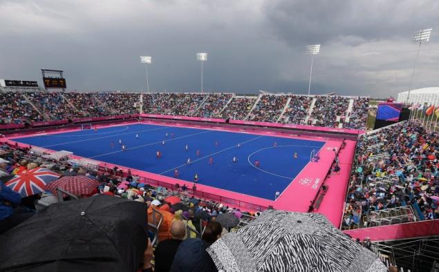 London 2012 hockey pitch