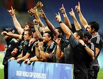 New Zealand men celebrate