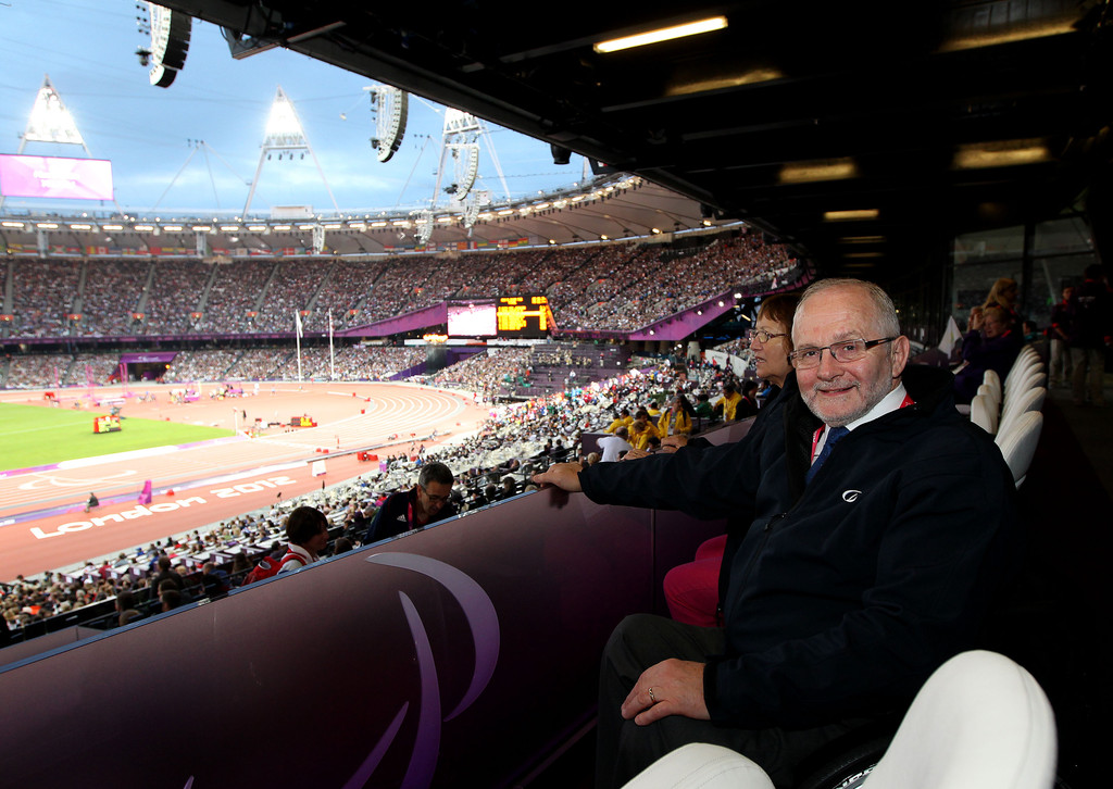 Sir Philip Craven in Olympic Stadium London 2012 Paralympics