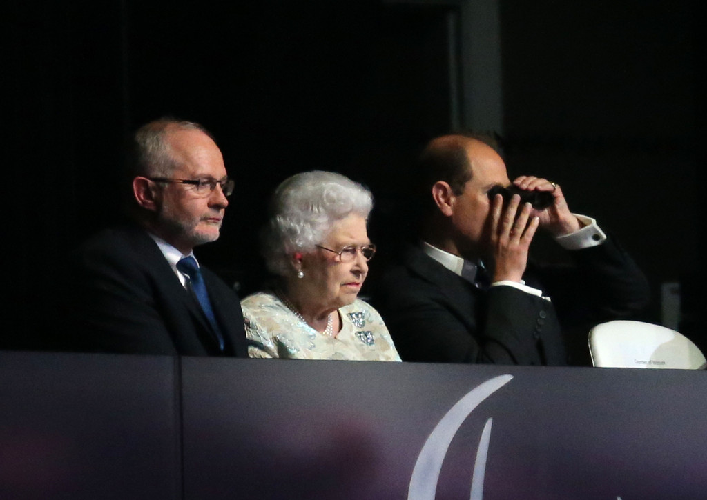 Sir Philip Craven with the Queen and Prince Edward Opening Ceremony London 2012 Paralympics