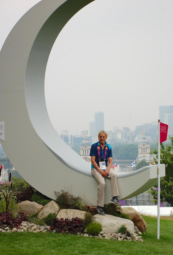 Sue Benson on Crescent Moon fence