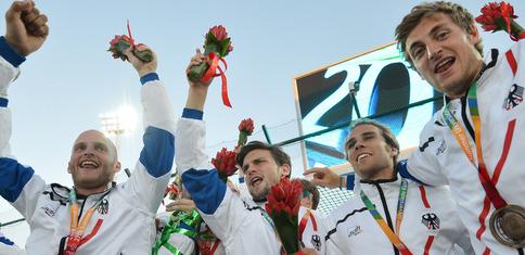 The German field hockey team beats Malaysia and claims bronze at Kazan 2013