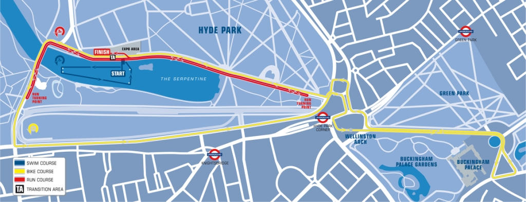 The London 2013 World Triathlon Grand Final will be competed on the London 2012 Olympic triathlon course
