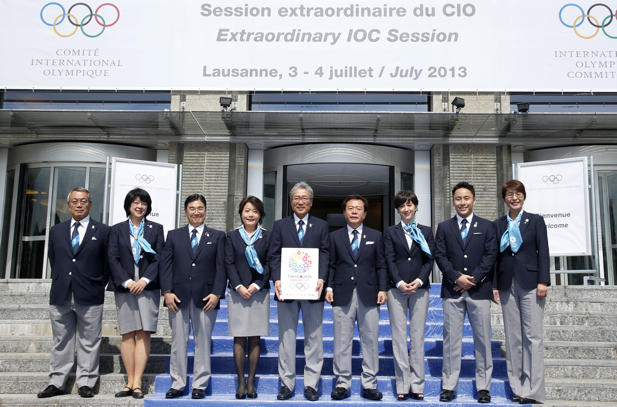 Tokyo 2020 team in Lausanne July 2 2013