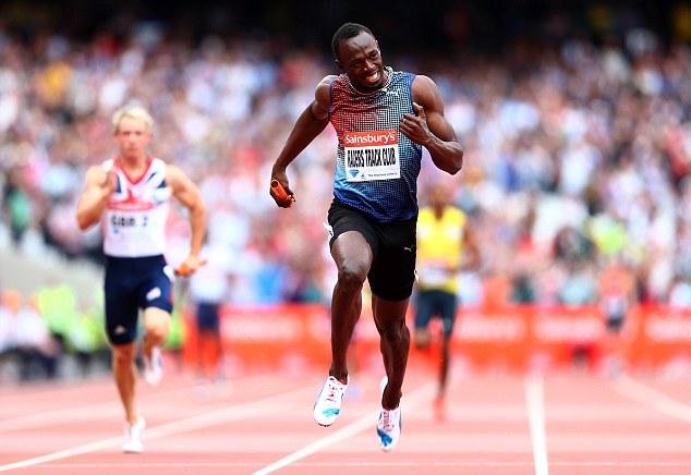 Usain Bolt Sainsburys Anniversary Games July 27 2013
