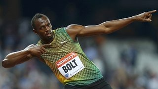 bolt after winning 100m