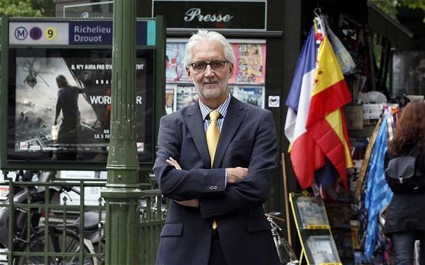 Brian Cookson in Paris