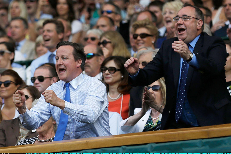 David Cameron and Alex Salmond celebrate Andy Murray winning Wimbledon 2013