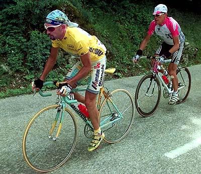 Marco Pantini and Jan Ullrich Tour de France 1998