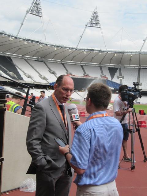 Niels de Vos Olympic Stadium July 24 2013