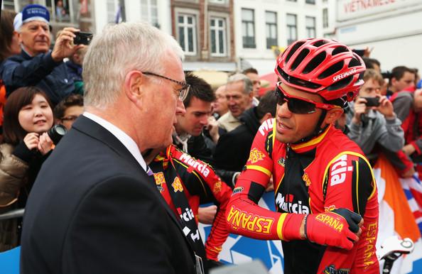 Pat McQuaid with Alberto Contador World Championships 2012