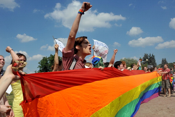 russian rainbow protest