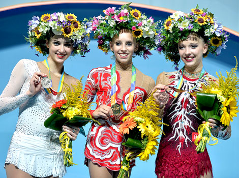 Yana Kudryavtseva secured her third world title in Kiev with a series of excellent displays