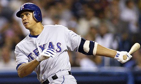 Alex Rodriguez playing for Texas Rangers