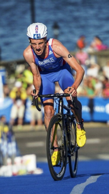 Alistair Brownlee made his decisive break in Stockholm during the bike stage