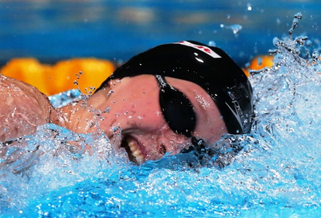 American Katie Ledecky broke Rebecaa Adlingtons five year world record on her way to victory in the 800m freestyle